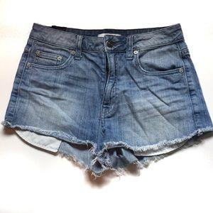 Aritzia Talula Light Blue Jean Shorts Size 25